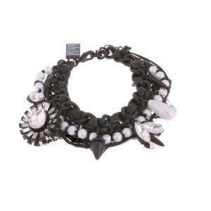 SALE! ERICKSON BEAMON ROCKS spikes pearl bracelet